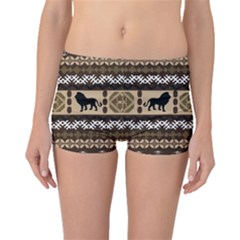 Lion African Vector Pattern Boyleg Bikini Bottoms