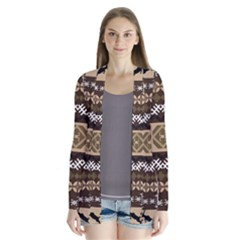 Lion African Vector Pattern Cardigans