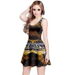 Textures Snake Skin Patterns Reversible Sleeveless Dress