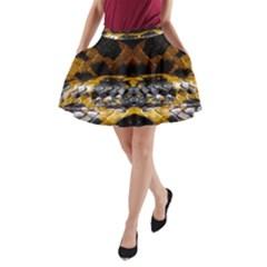 Textures Snake Skin Patterns A-Line Pocket Skirt