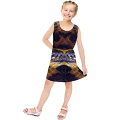 Textures Snake Skin Patterns Kids  Tunic Dress