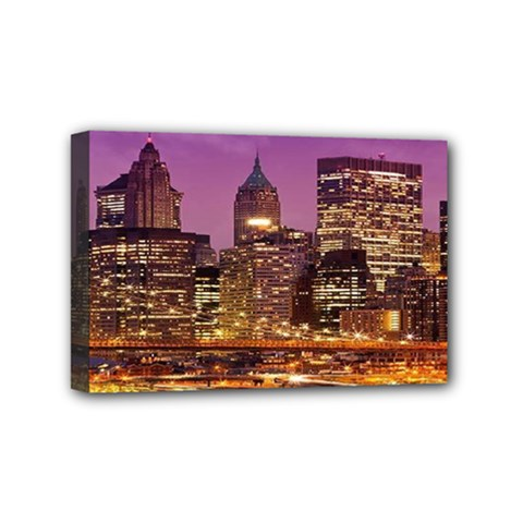 City Night Mini Canvas 6  x 4