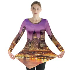 City Night Long Sleeve Tunic