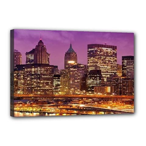 City Night Canvas 18  x 12
