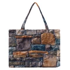 Brick Wall Pattern Medium Zipper Tote Bag