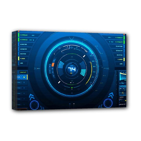 Technology Dashboard Deluxe Canvas 18  x 12