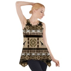 Giraffe African Vector Pattern Side Drop Tank Tunic