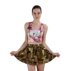 New York City At Night Future City Night Mini Skirt