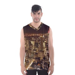 New York City At Night Future City Night Men s Basketball Tank Top