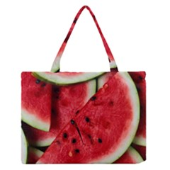 Fresh Watermelon Slices Texture Medium Zipper Tote Bag