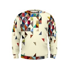 Retro Pattern Of Geometric Shapes Kids  Sweatshirt