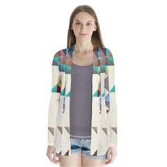 Retro Pattern Of Geometric Shapes Cardigans