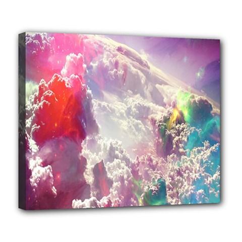 Clouds Multicolor Fantasy Art Skies Deluxe Canvas 24  x 20