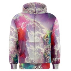 Clouds Multicolor Fantasy Art Skies Men s Zipper Hoodie