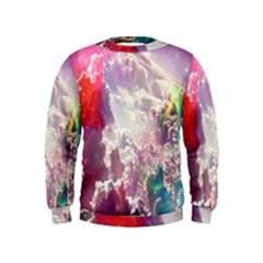 Clouds Multicolor Fantasy Art Skies Kids  Sweatshirt