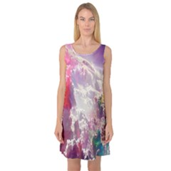 Clouds Multicolor Fantasy Art Skies Sleeveless Satin Nightdress