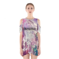 Clouds Multicolor Fantasy Art Skies Shoulder Cutout One Piece