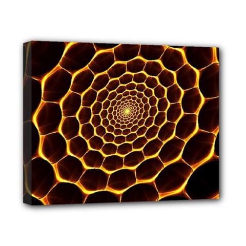 Honeycomb Art Canvas 10  x 8