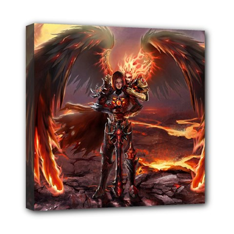 Fantasy Art Fire Heroes Heroes Of Might And Magic Heroes Of Might And Magic Vi Knights Magic Repost Mini Canvas 8  x 8