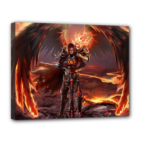 Fantasy Art Fire Heroes Heroes Of Might And Magic Heroes Of Might And Magic Vi Knights Magic Repost Canvas 14  x 11