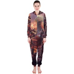 Fantasy Art Fire Heroes Heroes Of Might And Magic Heroes Of Might And Magic Vi Knights Magic Repost Hooded Jumpsuit (Ladies)