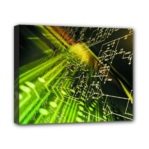 Electronics Machine Technology Circuit Electronic Computer Technics Detail Psychedelic Abstract Pattern Canvas 10  x 8