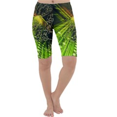 Electronics Machine Technology Circuit Electronic Computer Technics Detail Psychedelic Abstract Pattern Cropped Leggings