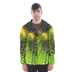 Electronics Machine Technology Circuit Electronic Computer Technics Detail Psychedelic Abstract Pattern Hooded Wind Breaker (Men)