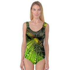 Electronics Machine Technology Circuit Electronic Computer Technics Detail Psychedelic Abstract Pattern Princess Tank Leotard