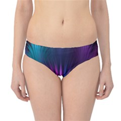 Colored Rays Symmetry Feather Art Hipster Bikini Bottoms