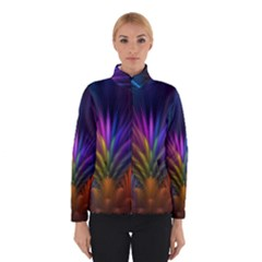 Colored Rays Symmetry Feather Art Winterwear