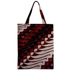 Traditional Batik Sarong Zipper Classic Tote Bag