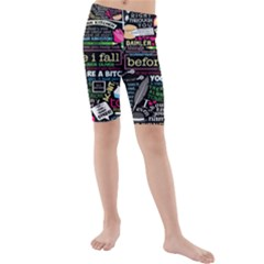 Book Collage For Before I Fall Kids  Mid Length Swim Shorts