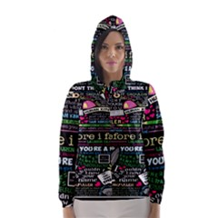 Book Collage For Before I Fall Hooded Wind Breaker (Women)