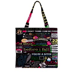 Book Collage For Before I Fall Zipper Grocery Tote Bag