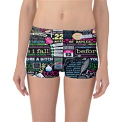 Book Collage For Before I Fall Reversible Bikini Bottoms