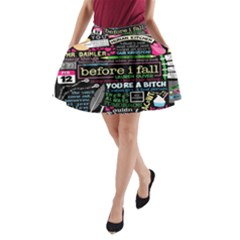 Book Collage For Before I Fall A-Line Pocket Skirt