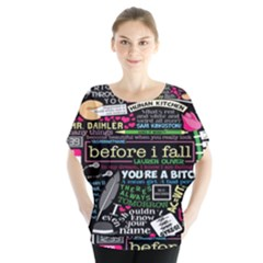Book Collage For Before I Fall Blouse