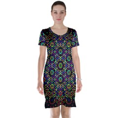 The Flower Of Life Short Sleeve Nightdress