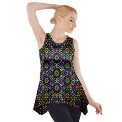 The Flower Of Life Side Drop Tank Tunic
