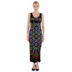 The Flower Of Life Fitted Maxi Dress