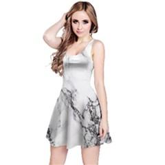 Marble Pattern Reversible Sleeveless Dress
