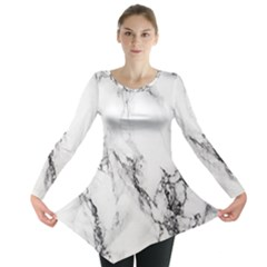 Marble Pattern Long Sleeve Tunic