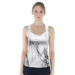 Marble Pattern Racer Back Sports Top