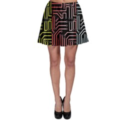 Circuit Board Seamless Patterns Set Skater Skirt