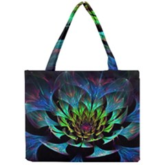 Fractal Flowers Abstract Petals Glitter Lights Art 3d Mini Tote Bag