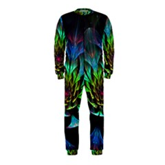 Fractal Flowers Abstract Petals Glitter Lights Art 3d OnePiece Jumpsuit (Kids)