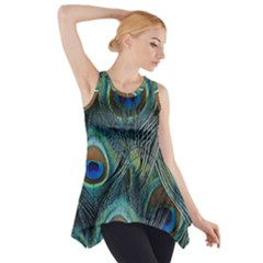 Feathers Art Peacock Sheets Patterns Side Drop Tank Tunic