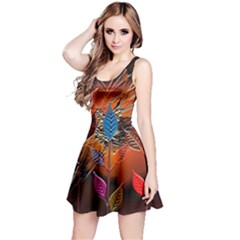 Colorful Leaves Reversible Sleeveless Dress