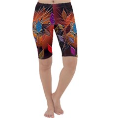 Colorful Leaves Cropped Leggings